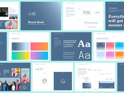 Mental Health Matters — Brand Book vector photography mental health webdesign logo branding design identity colour brand
