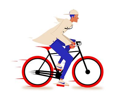 BICYCLE IN PARIS painting hipster animation adobe flat illustrator flat design colors designer sketch drawing vector minimal bicycle bike design graphic illustration illustrator character design artwork design
