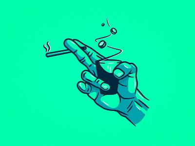 16 - Bad Habits clean flow bad habit habit drugs hand design illustrations illustration vector art vector illustration vector