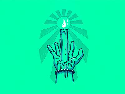 18 - Guiding Light guiding light light artist candle vector illustration vector drawing artwork art