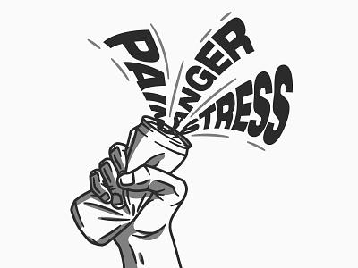 19 - Emotions typography flow poster design design vectorart drawing lines angry hidden depth hidden meaning illustration illustrator vector