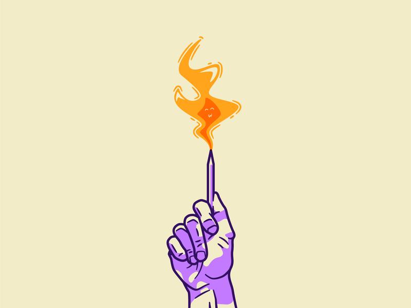 21 - Creative Fire vector design simple design lines vectors handdrawing illustration art illustrator vectorillustration vector art vector