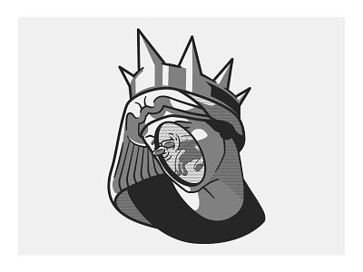 25 - Save Me From Myself artist art lines vector illustration vector art vector drawing statue illustration design