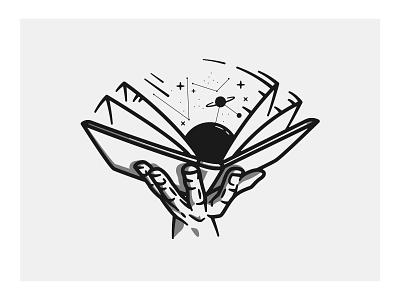 28 - Wisdom is Power designer designs hand vectors vector art vector illustration vector illustration drawing universe power wisdom books book