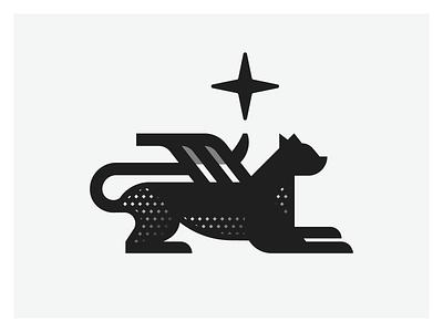 Tribute minimalist logo minimalist minimal logodesign cat geometry geometric illustration vector design logo