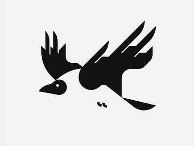 Raven Logo aggresive bird logo bird logodesign logo logo design trending logo dribbbleweeklywarmup dribbble best shot dribbble trending crow raven