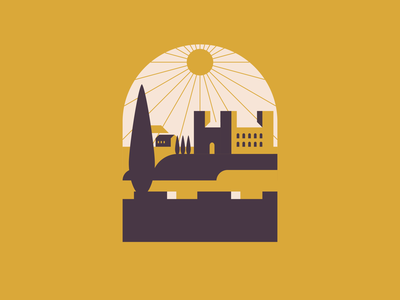 His majesty arriving to town. vector logo design graphic design dribbble castle illustration