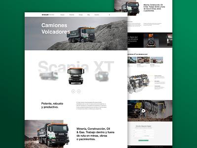 Scania XT construction company website web design ui