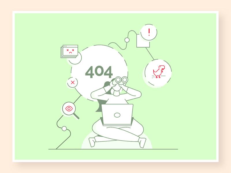 404 error - NOT FOUND ✖ pagenotfound design ecommerce illustration 404 page 404 error 404
