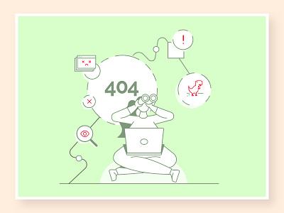 404 error - NOT FOUND ✖ not found pagenotfound design ecommerce illustration 404 page 404 error 404