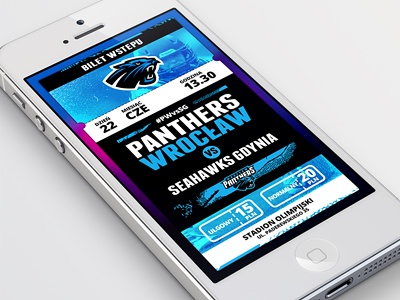 Football Ticket user interface ui ticket mobile application app ios sport nfl panthers football