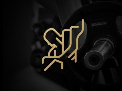 Fitness logo fitness muscle strength sport