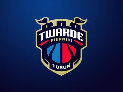 Twarde Pierniki Toruń - TBL nba sport basketball sports branding crest