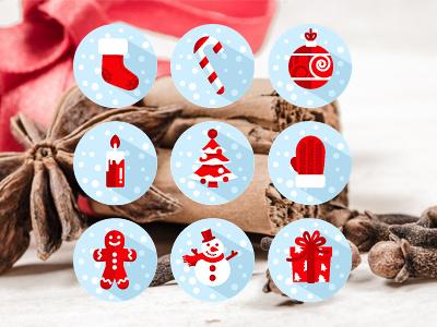 Christmas Icons icons outline christmas santa christmas icons decorations flat snowman tree gingergread man gift box