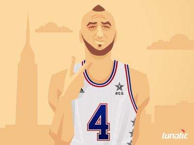 Marcin Gortat #NBABallot marcin gortat nba basketball sport nbaballot all-star cartoon new york