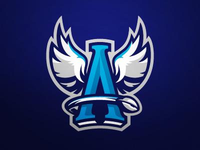 Angels Toruń football nfl angel sport logo sportsbranding design illustration branding logotype