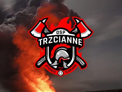 Fire brigade branding fire department crest smoke firebrigade fireman fire logo