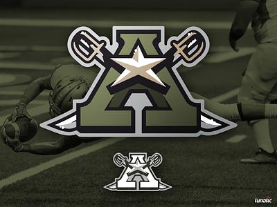 Army Football saber sword star army navy sports branding nfl branding sport