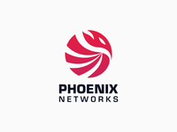 Phoenix networks logo concept