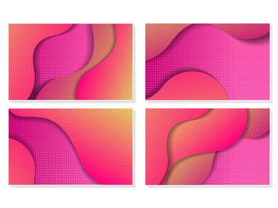 Liquid Color Background Vector Bundles