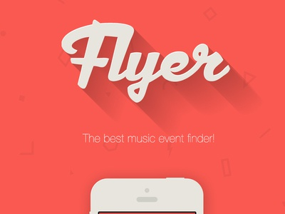 Flyer app design iphone app logo ui ux brand texture red flat long shadow