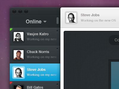 How should Skype look like! skype interface ui buttons mac