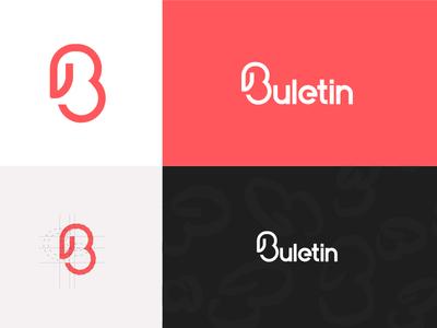 Buletin new logo! logo paper clip brand newspaper b logo identity app design buletin albania