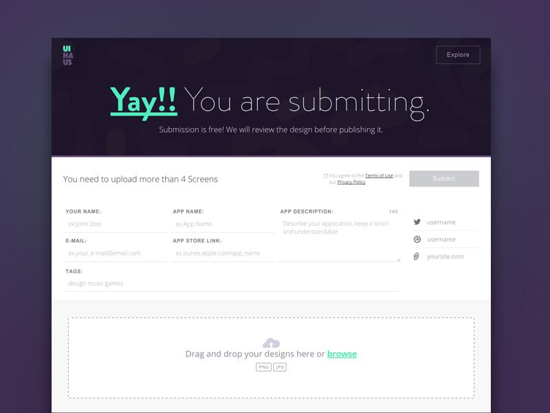 UI Haus submit form label page sign up design website landing