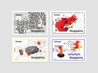 Albania Post Stamps