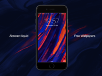 Free Liquid Abstract iPhone Wallpapers
