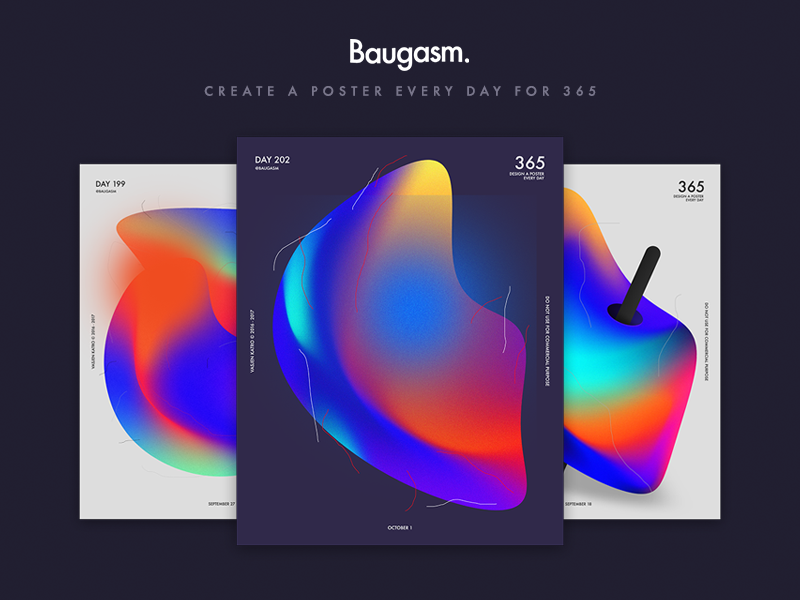 Baugasm Class 365 teacher class skillshare albania gradient poster graphic design baugasm tutorial learn