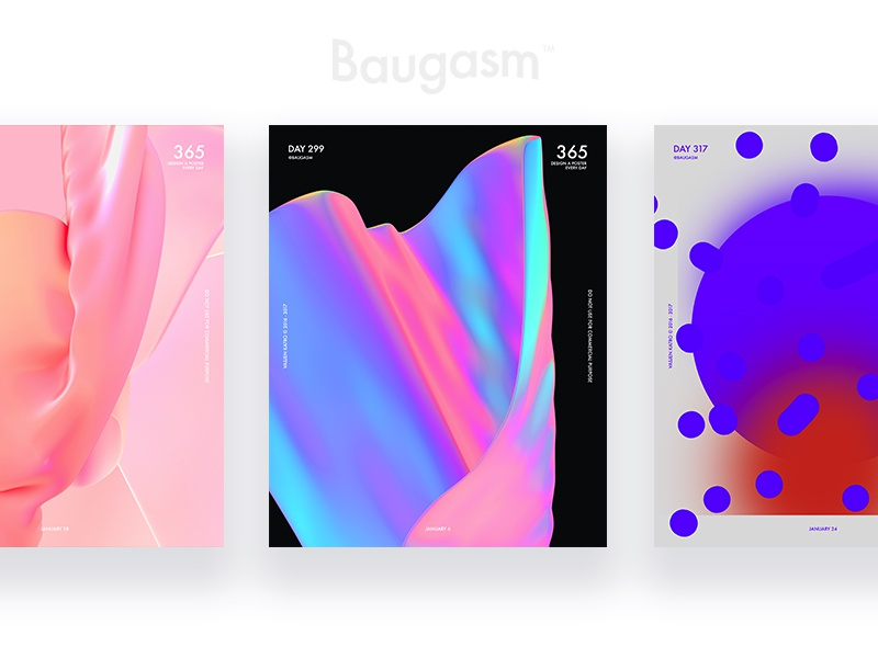 Buagasm posters buagasm graphic design daily challenge daily poster gradient poster