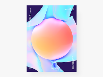 Baugasm Day 020 Y2 iridescent graphic design a poster every day daily poster poster baugasm