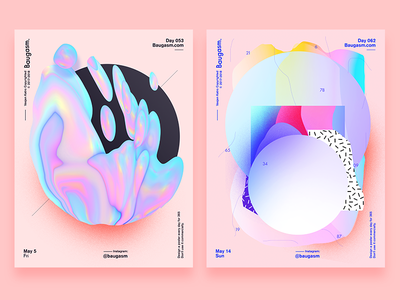 2 of my favs baugasm poster daily poster a poster every day graphic design iridescent