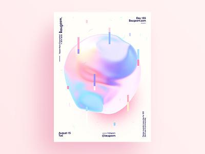 Baugasm Day 155 Y2 iridescent graphic design a poster every day daily poster poster baugasm