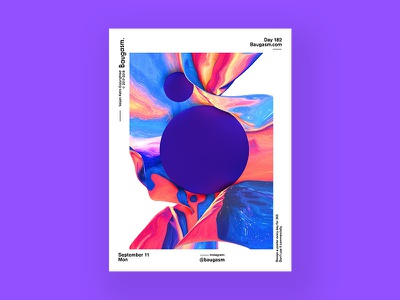 Baugasm Day 182. iridescent graphic design a poster every day daily poster poster baugasm