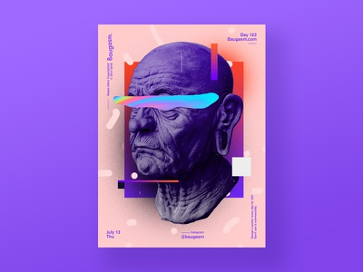 Day 122 iridescent graphic design a poster every day daily poster poster baugasm