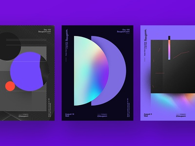 Some of my favs from Baugasm iridescent graphic design a poster every day daily poster poster baugasm