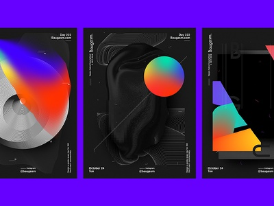New Baugasm Tutorial tutorial iridescent graphic design a poster every day daily poster poster baugasm