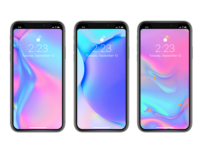 Free iPhone X - Notchless Wallpapers katro vasjen holographic irridescent baugasm free wallpaper iphone x iphone x wallpaper