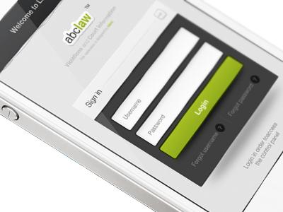 iPhone Login iphone login control panel drag ui