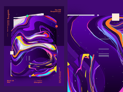 Baugasm Day 308 gradient iridescent design graphic daily baugasm day every poster a