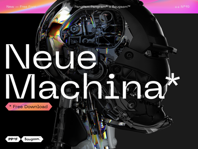 Neue Machina - Free Font