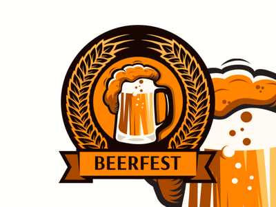 beerfest logo animation branding design art vector sketch design ilustration coreldraw ilustrator logo