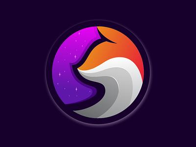 fox gradient logo app animation branding design art vector sketch design ilustration coreldraw ilustrator logo