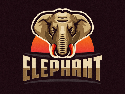 elephant logo animation branding design art vector sketch design ilustration coreldraw ilustrator logo