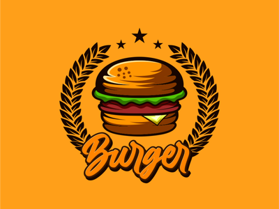 burger logo animation branding design art vector sketch design ilustration coreldraw ilustrator logo
