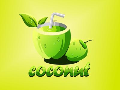 coconut logo app branding design art vector sketch design ilustration coreldraw ilustrator logo