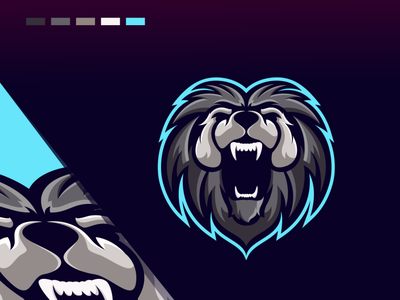 LION animation branding design art vector sketch design ilustration coreldraw ilustrator logo