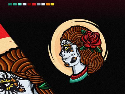 sugar skull logo animation branding design art vector sketch design ilustration coreldraw ilustrator logo